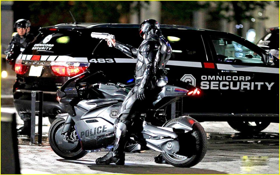 ROBOCOP sci-fi cyborg robot warrior armor weapon gun police      d wallpaper