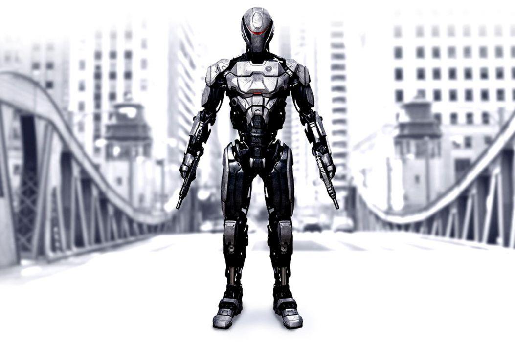 ROBOCOP sci-fi robot warrior weapon gun    h wallpaper