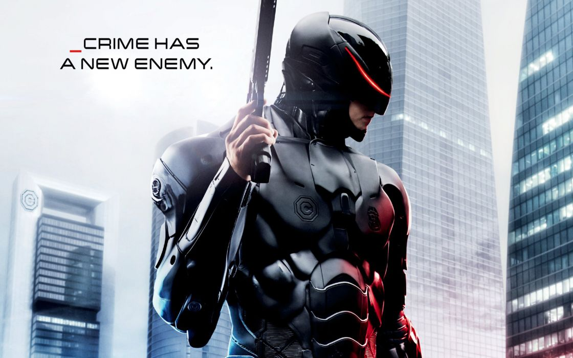 ROBOCOP sci-fi cyborg robot warrior armor weapon gun poster  j wallpaper