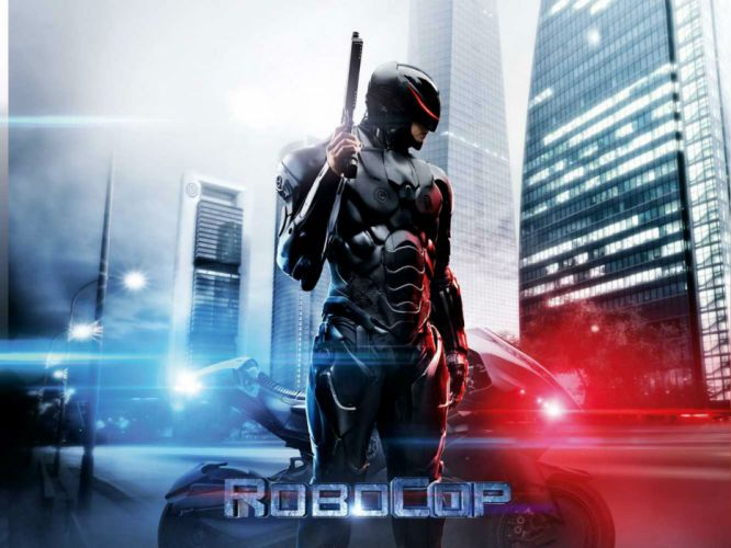 ROBOCOP sci-fi cyborg robot warrior armor weapon gun poster f wallpaper
