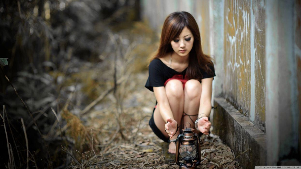 women cold Asians evening wallpaper