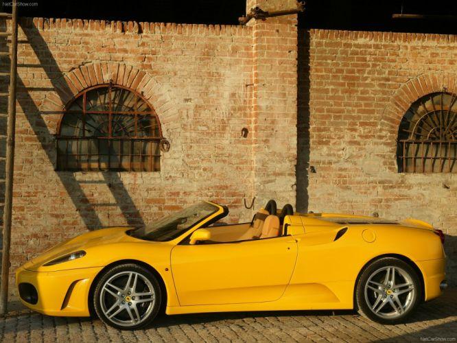 cars Ferrari F430 Spider Ferrari F430 yellow cars wallpaper