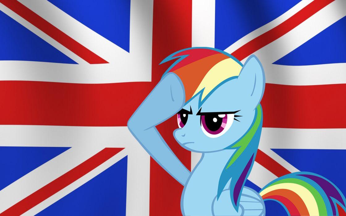 flags United Kingdom My Little Pony Rainbow Dash wallpaper