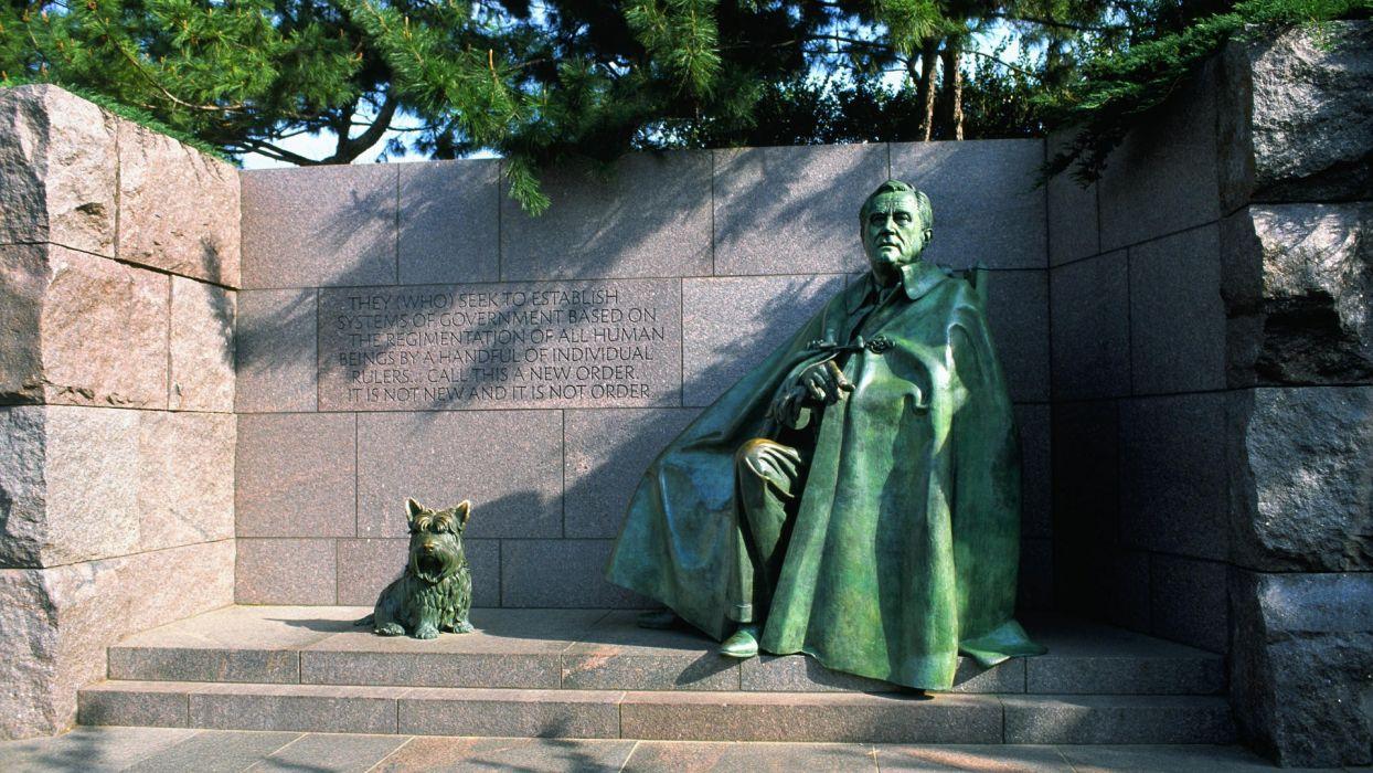 Washington DC memorial statues Franklin D_ Roosevelt wallpaper
