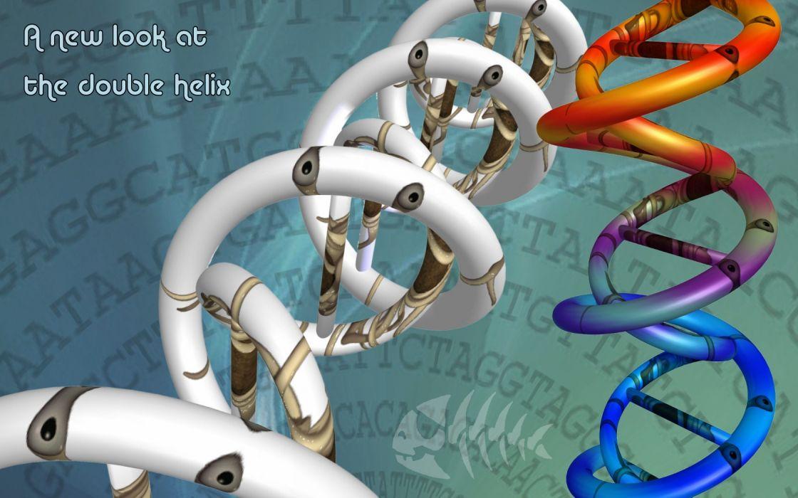 digital art double helix wallpaper