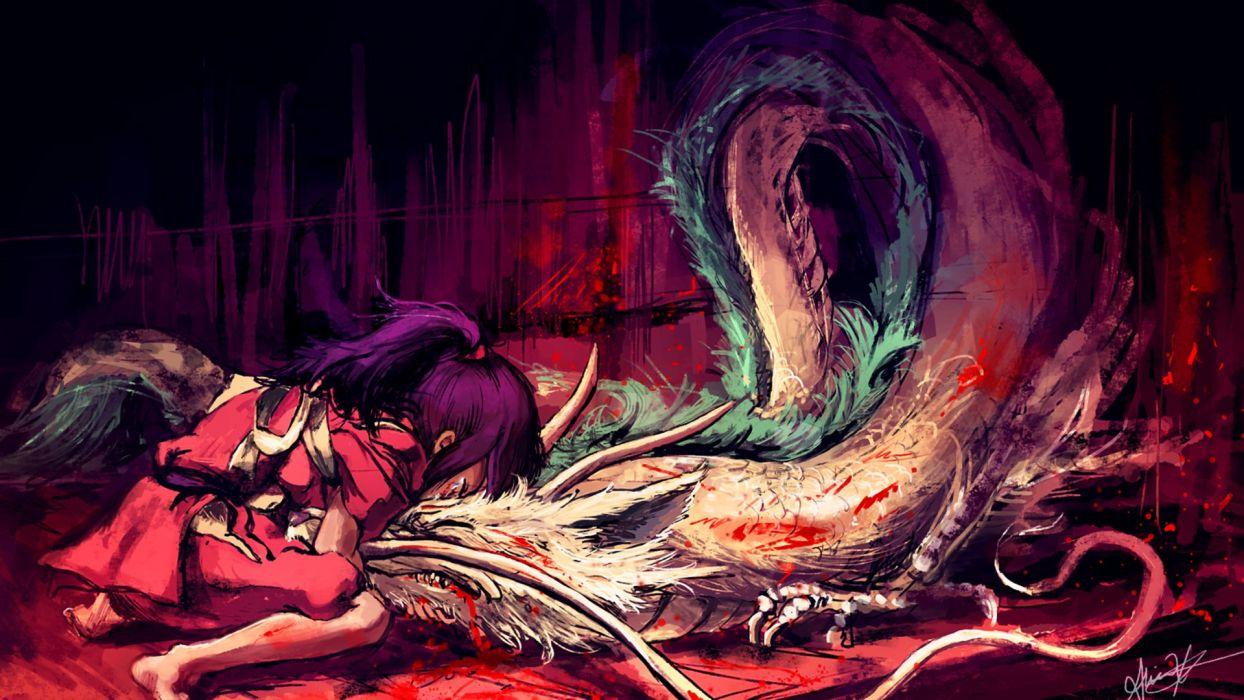 Spirited Away haku Studio Ghibli sin Chihiro wallpaper