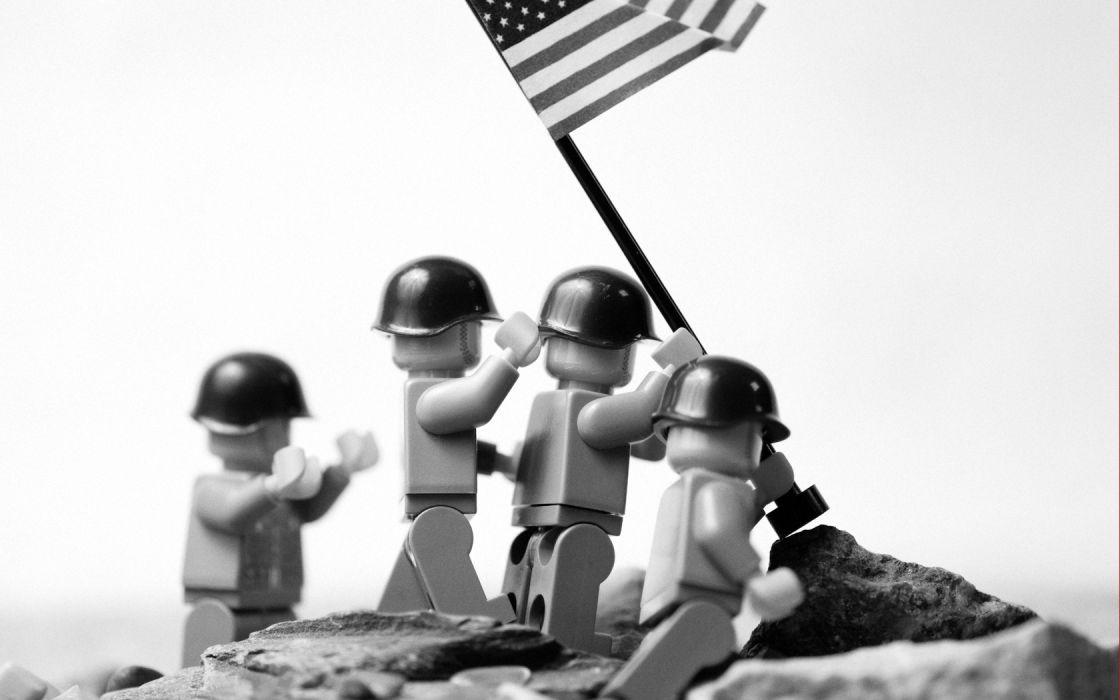 World War II Iwo Jima Legos redneck wallpaper
