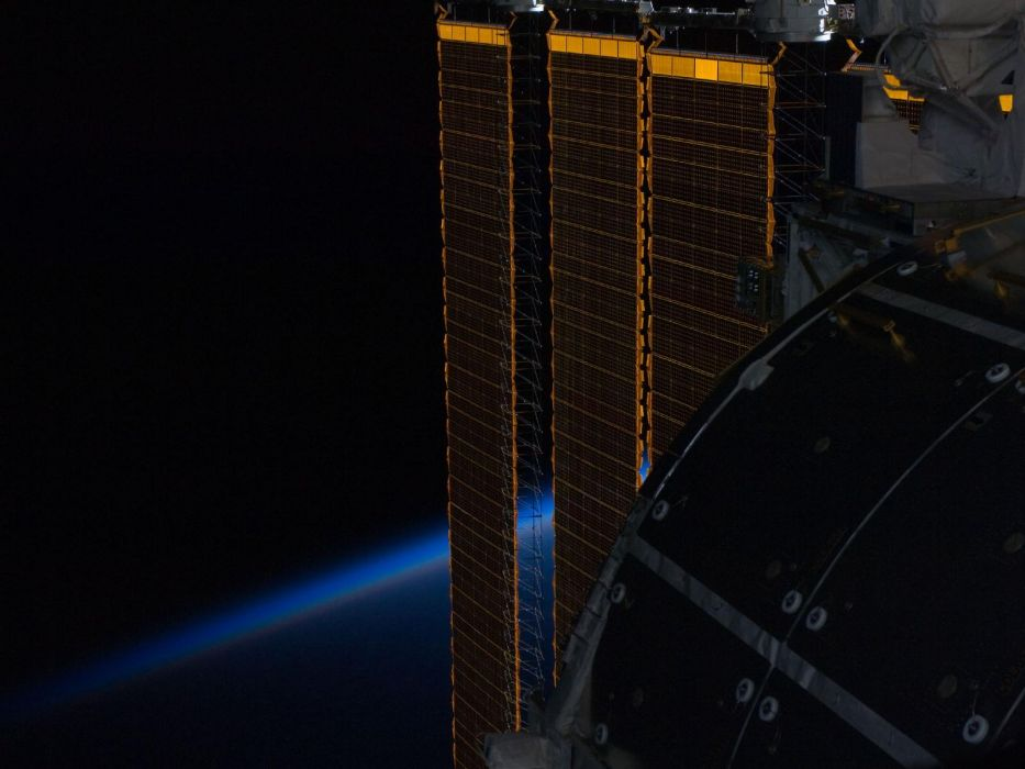spaceships solar panels wallpaper