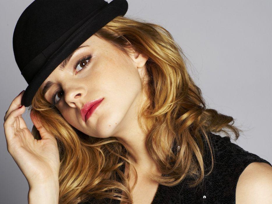 blondes women Emma Watson actress faces wallpaper