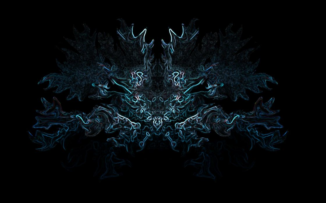 abstract wings fractals wallpaper
