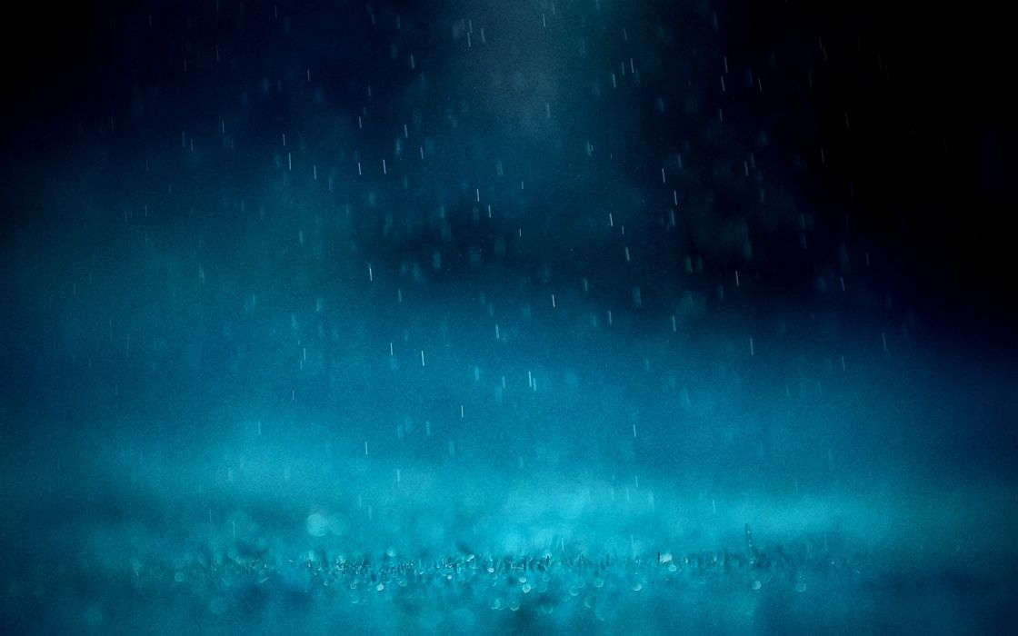 blue rain water drops wallpaper