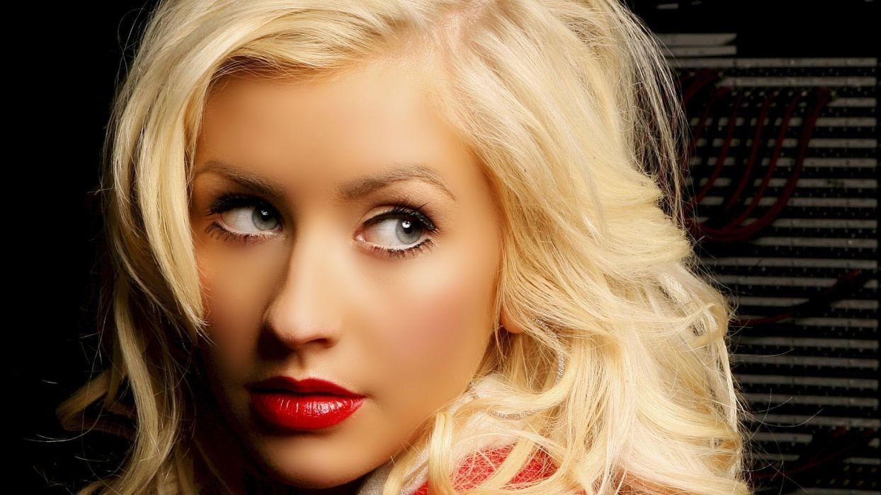 blondes women Christina Aguilera wallpaper