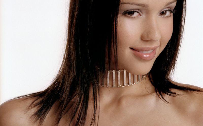 brunettes women Jessica Alba actress wallpaper