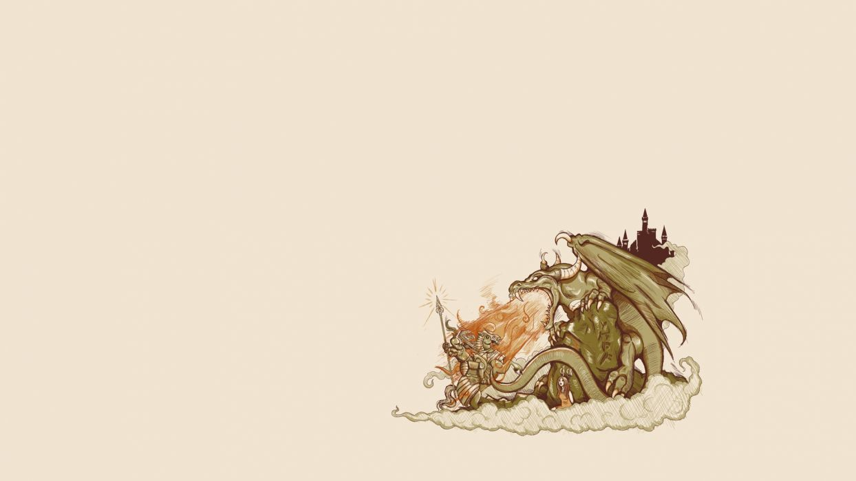 minimalistic dragons wallpaper