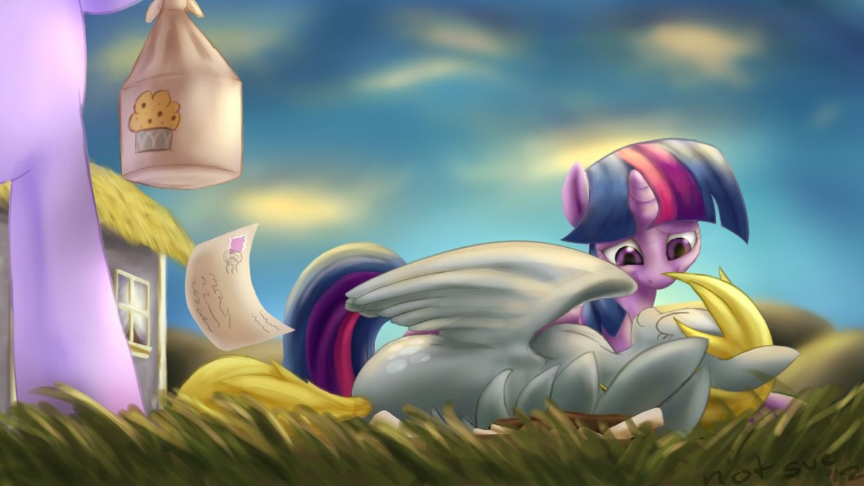 the end ponies Derpy Hooves Twilight Sparkle My Little Pony: Friendship is Magic Ditzy Doo the day wallpaper