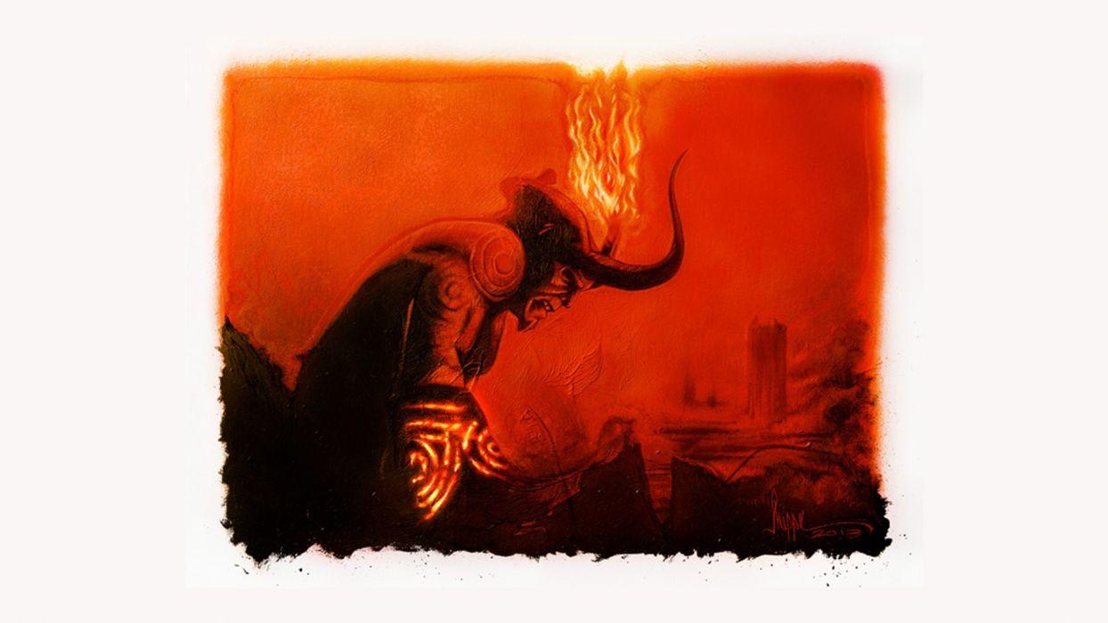 movies Hellboy Ron Perlman comic wallpaper