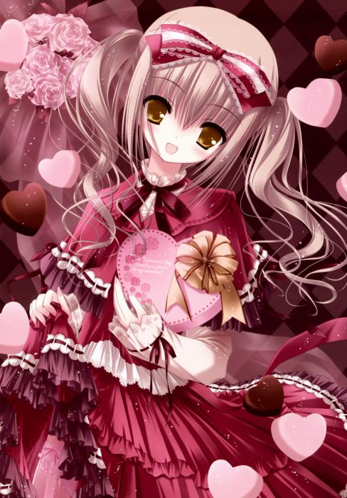 blondes chocolate anime golden eyes lolita fashion Tinkle Illustrations anime girls wallpaper