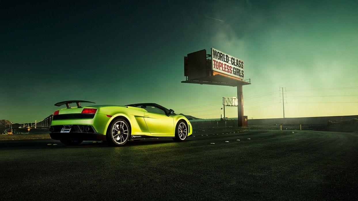 cars convertible cabrio Lamborghini Gallardo LP570-4 Performante wallpaper