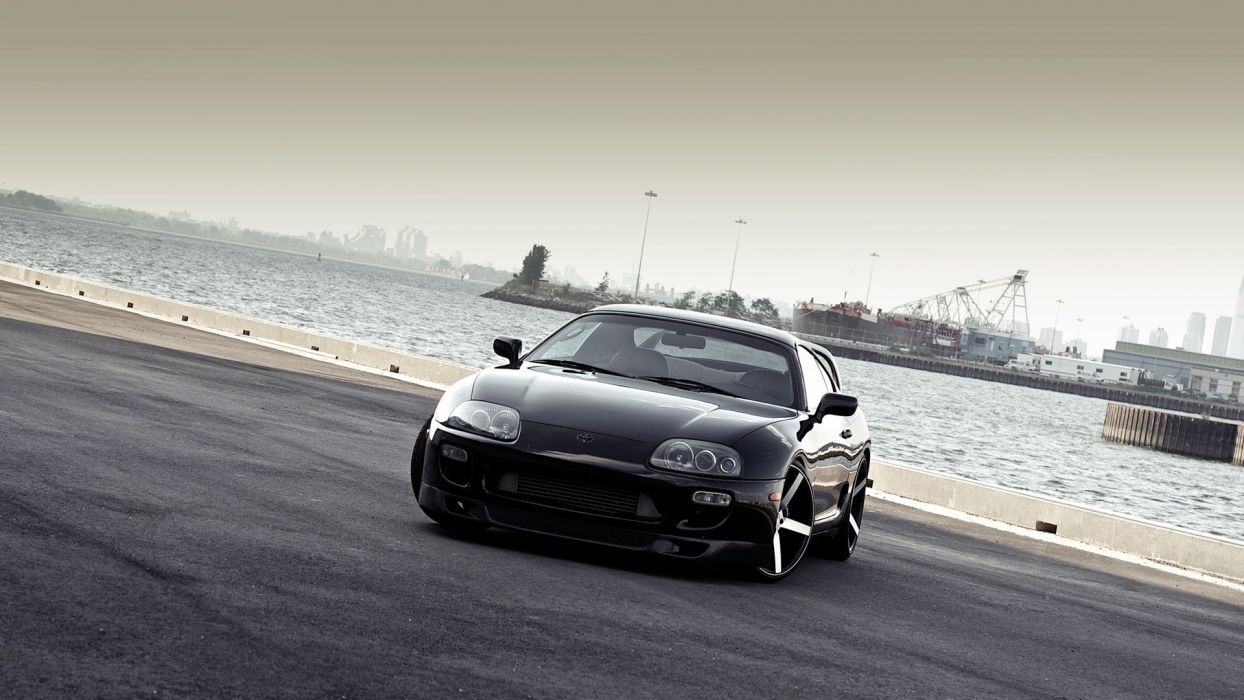 black red dock cars sports Toyota outdoors vehicles supercars turbo Toyota Supra automotive automobiles exotic cars supra mkIV Toyota Supra Turbo wallpaper