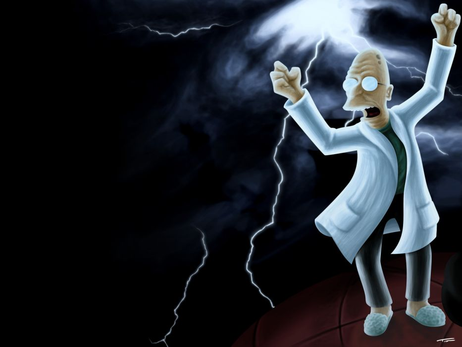 Futurama Professor Farnsworth wallpaper