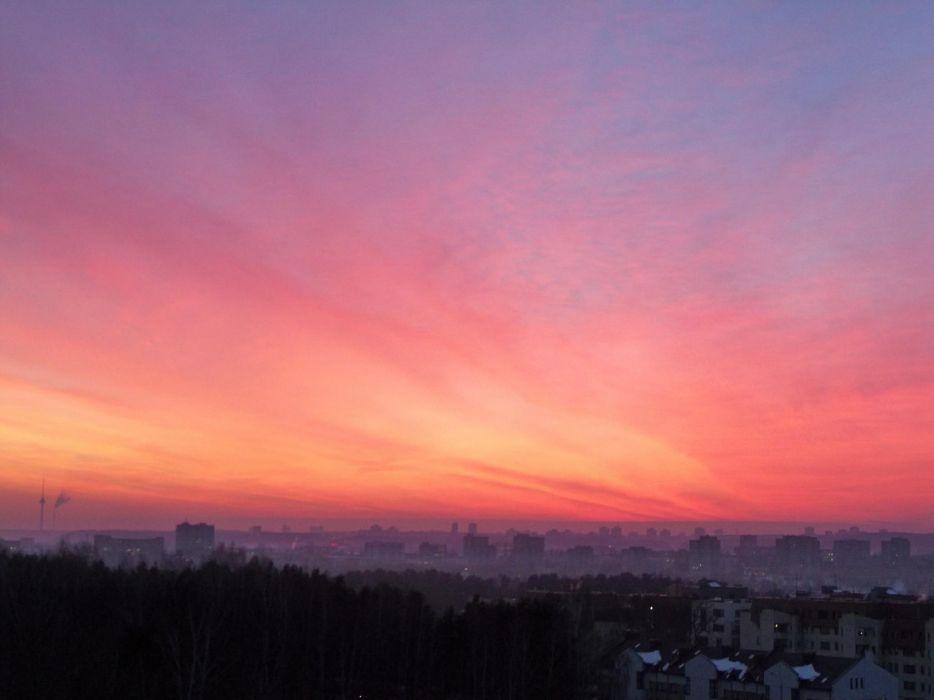 sunset skies red sky wallpaper