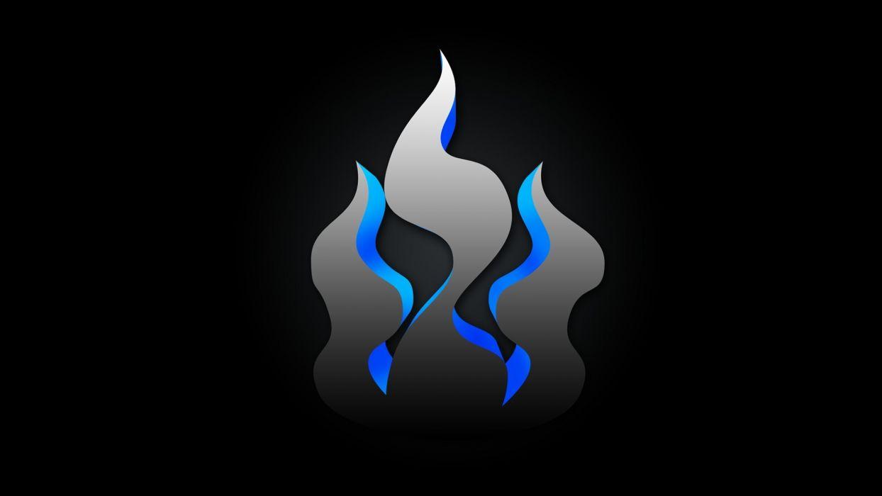 abstract flames black wallpaper