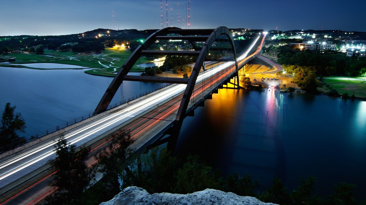 cityscapes austin bridges urban lakes rivers modern wallpaper