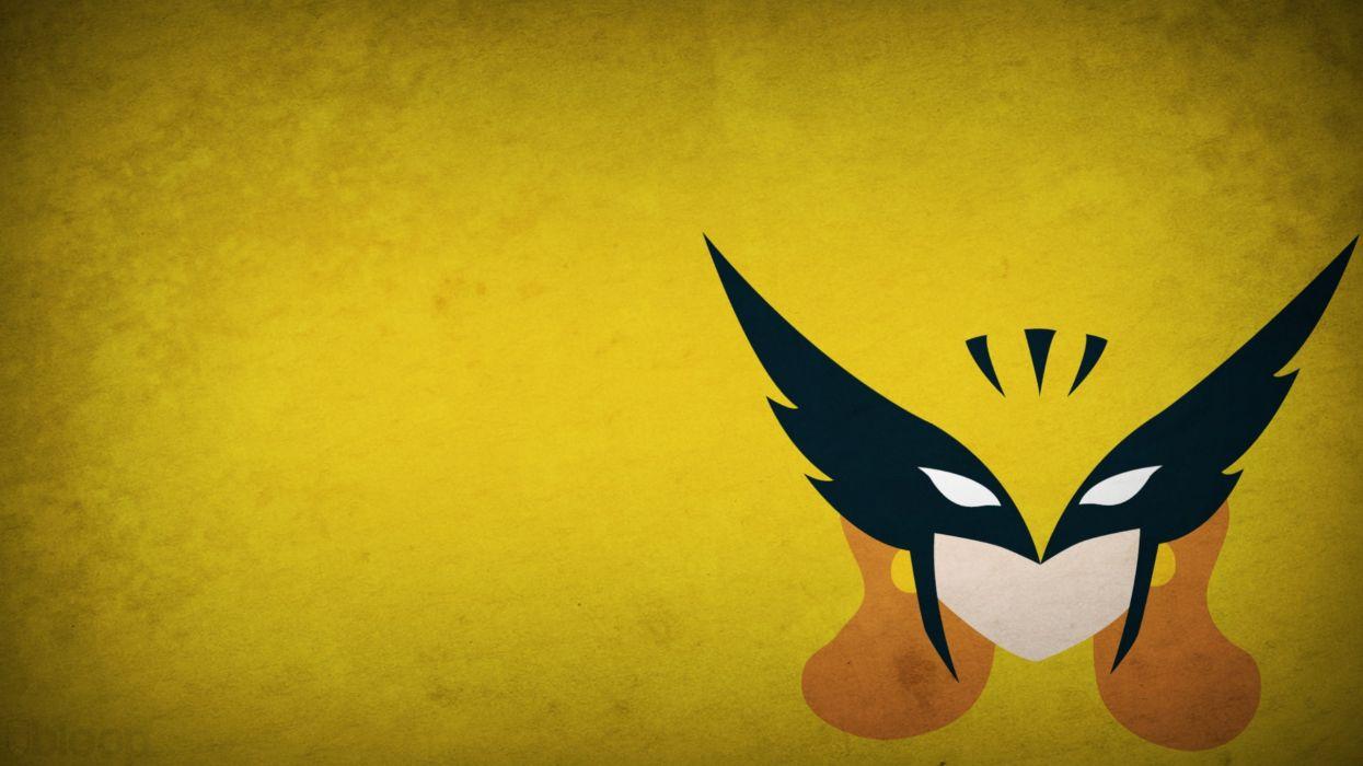minimalistic Hawkman yellow background blo0p wallpaper