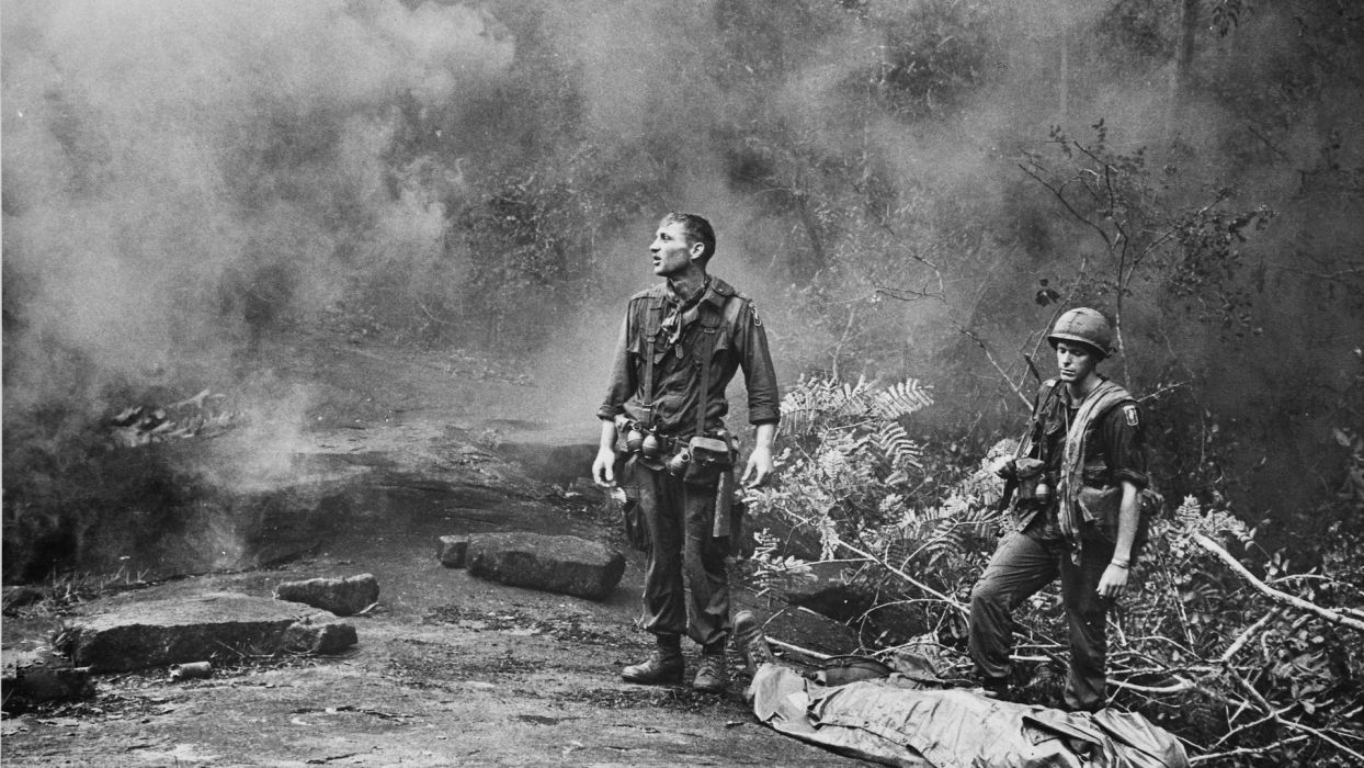 black and white soldiers war army Viet Nam monochrome wallpaper
