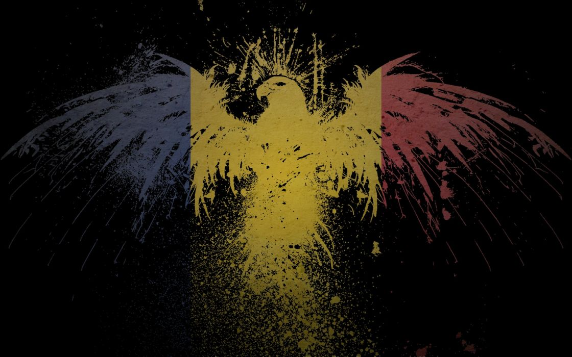 abstract dark eagles wallpaper