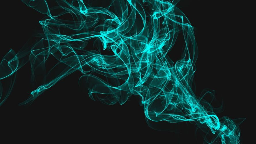 abstract blue dark smoke digital art wallpaper