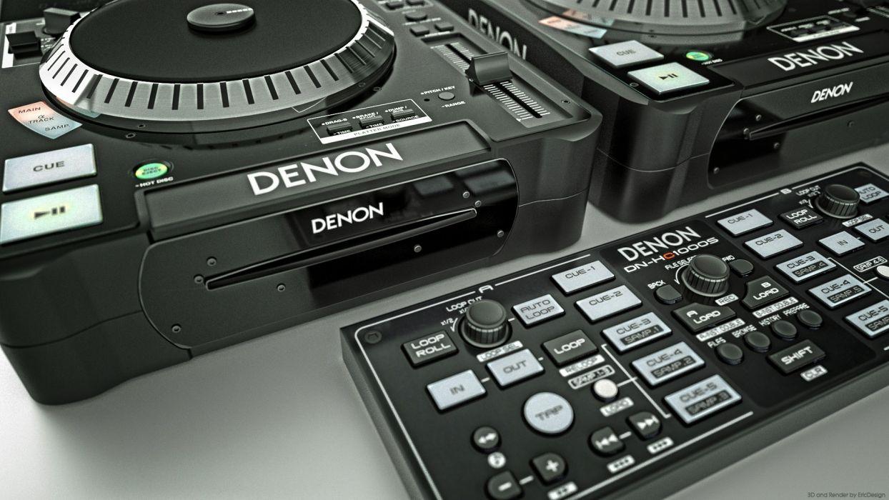music series DJ  denon wallpaper