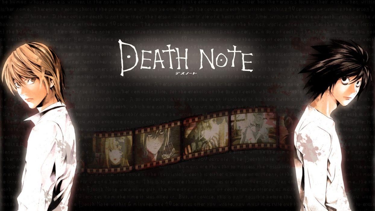 Death Note Yagami Light Kira lawliet raito wallpaper