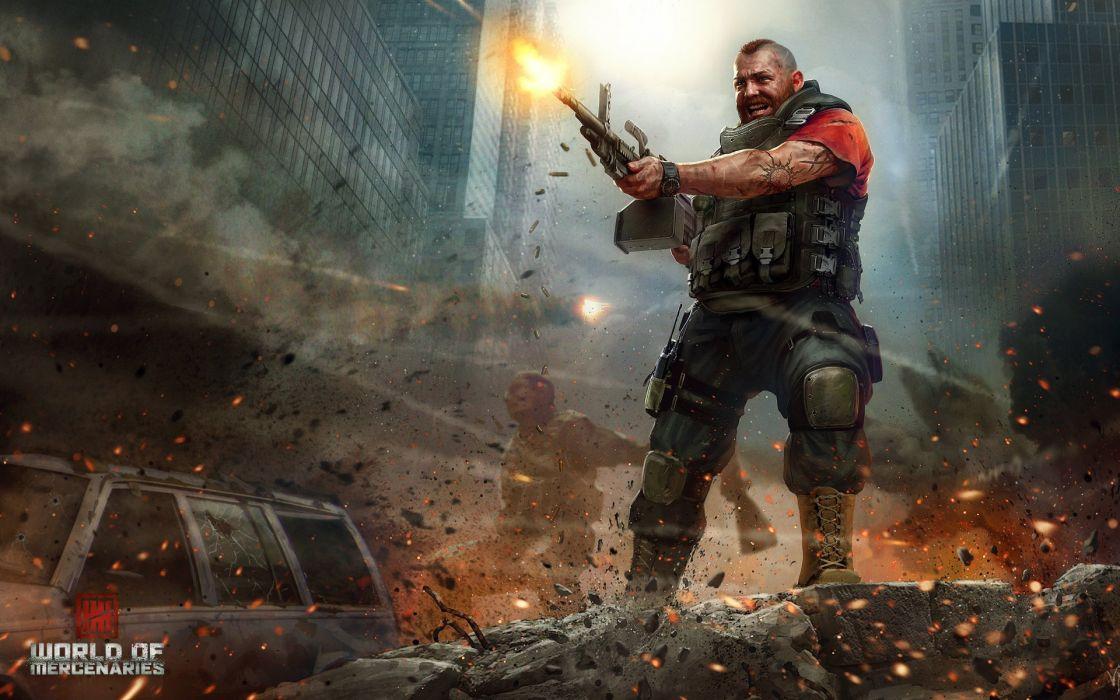 video games men mercenaries wallpaper