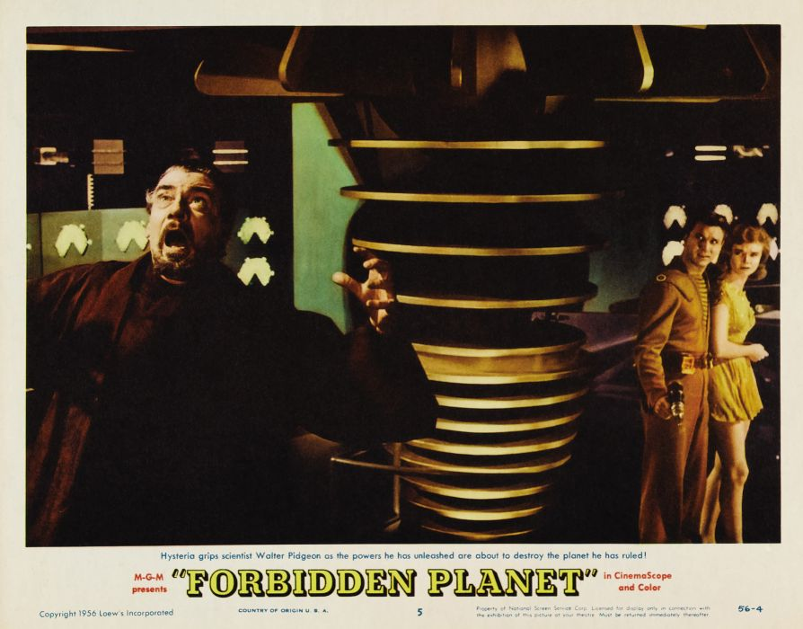 FORBIDDEN PLANET action adventure sci-fi poster  j wallpaper