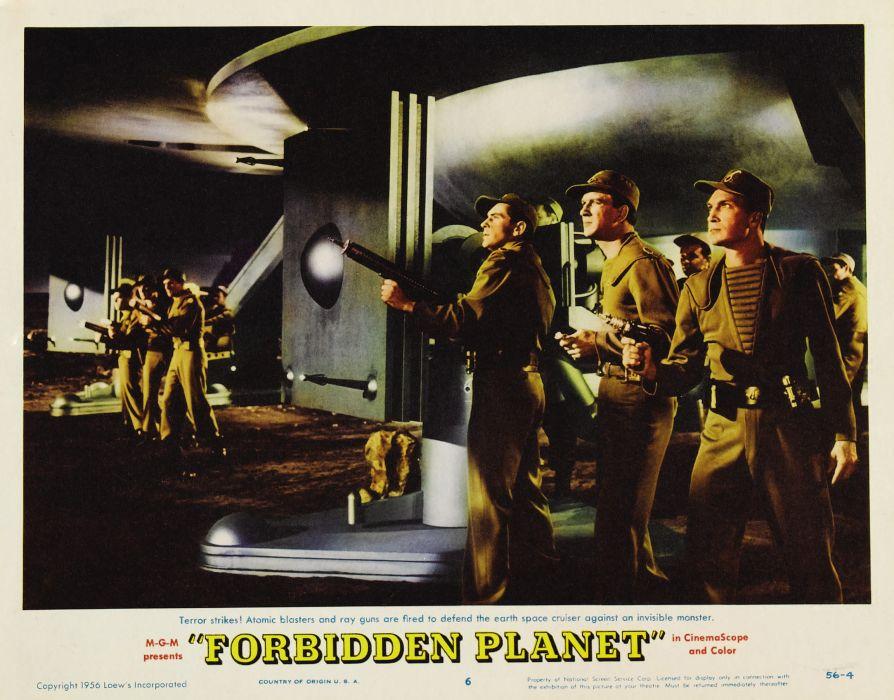 FORBIDDEN PLANET action adventure sci-fi poster  k wallpaper