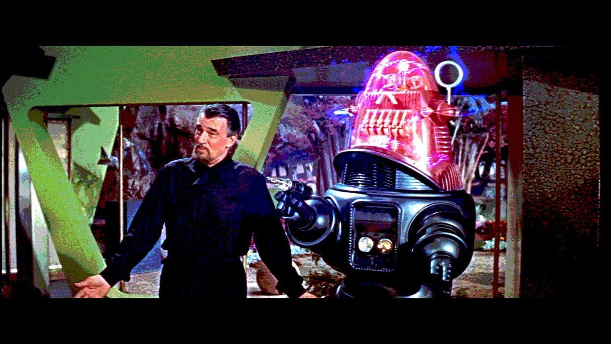 FORBIDDEN PLANET action adventure sci-fi robot    kg wallpaper