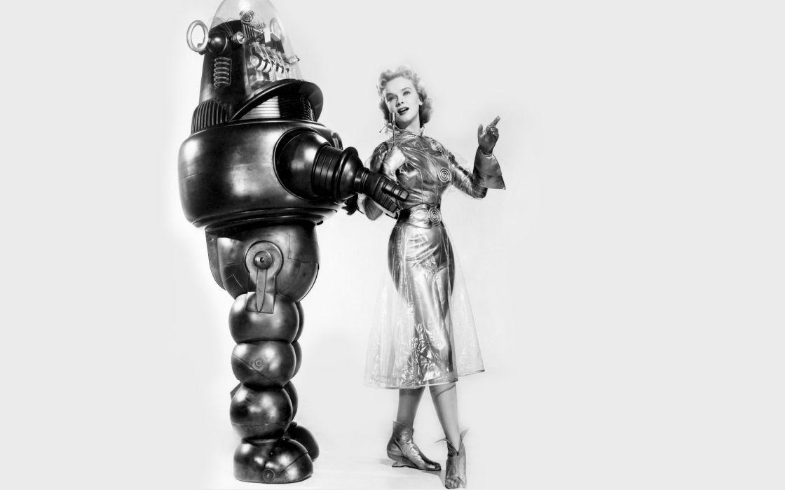 FORBIDDEN PLANET action adventure sci-fi robot    f wallpaper