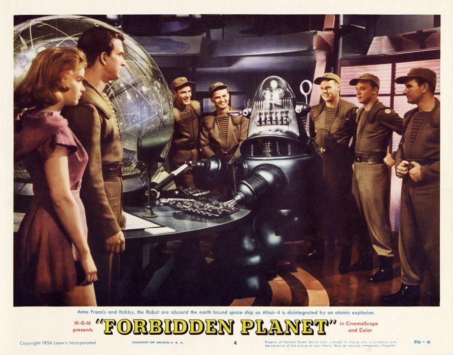 FORBIDDEN PLANET action adventure sci-fi robot poster      yr wallpaper