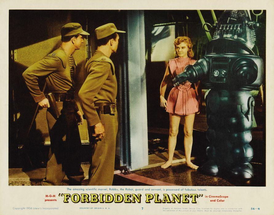 FORBIDDEN PLANET action adventure sci-fi robot poster   t wallpaper