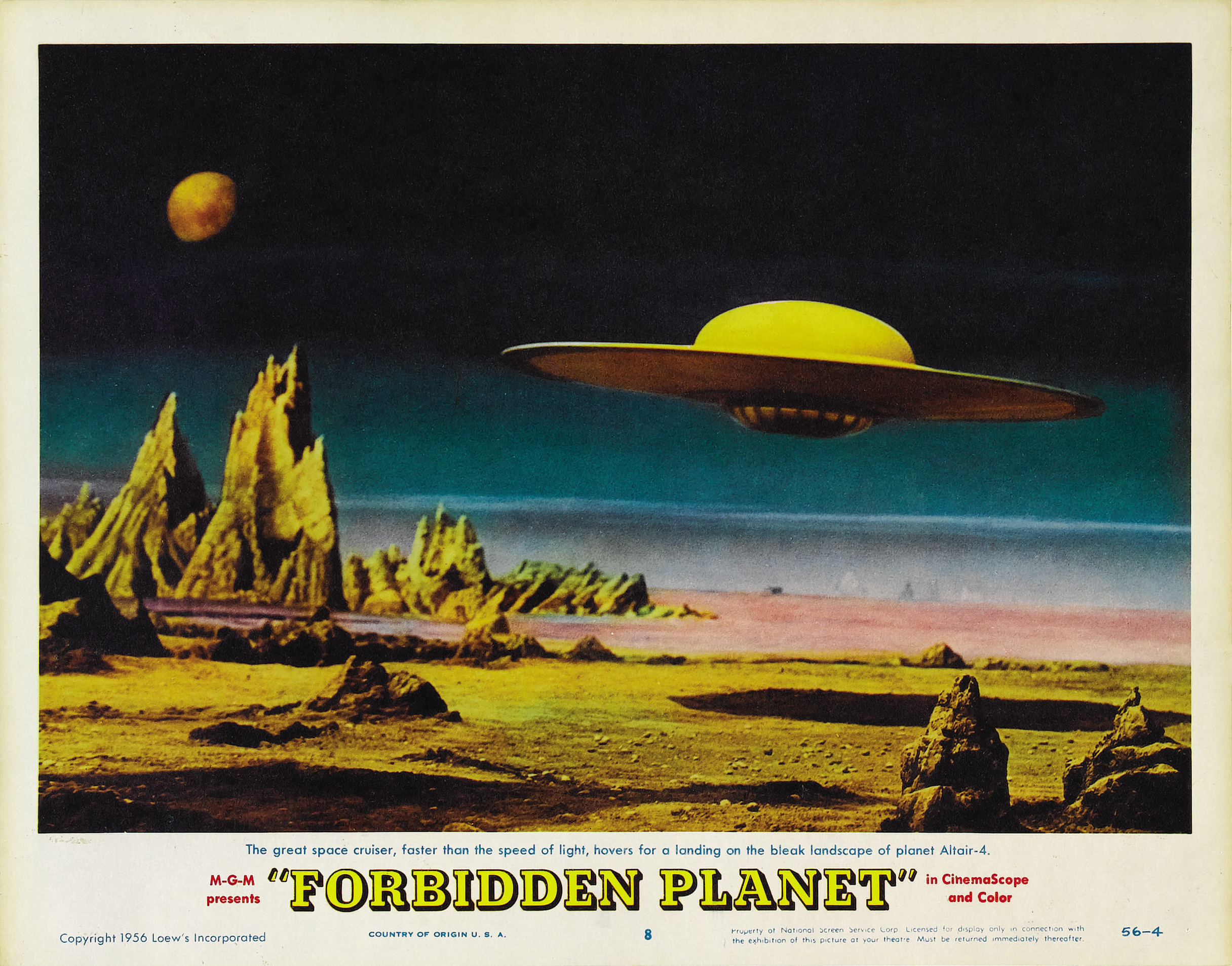Forbidden planet action adventure sci fi spaceship poster for 11975 sunshine terrace