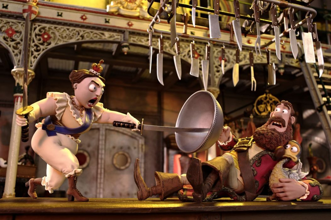 The Pirates! Band of Misfits animation adventure comedy cartoon pirate (5) wallpaper