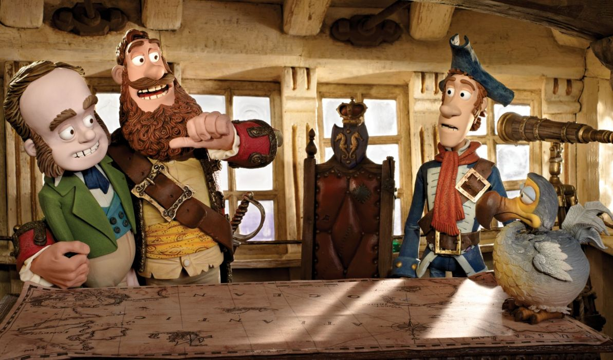 The Pirates! Band of Misfits animation adventure comedy cartoon pirate (6) wallpaper