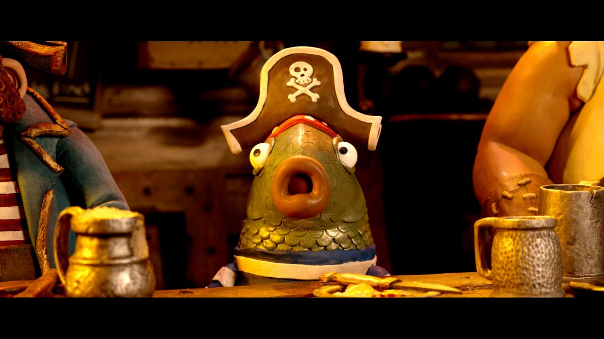 The Pirates! Band of Misfits animation adventure comedy cartoon pirate (7) wallpaper
