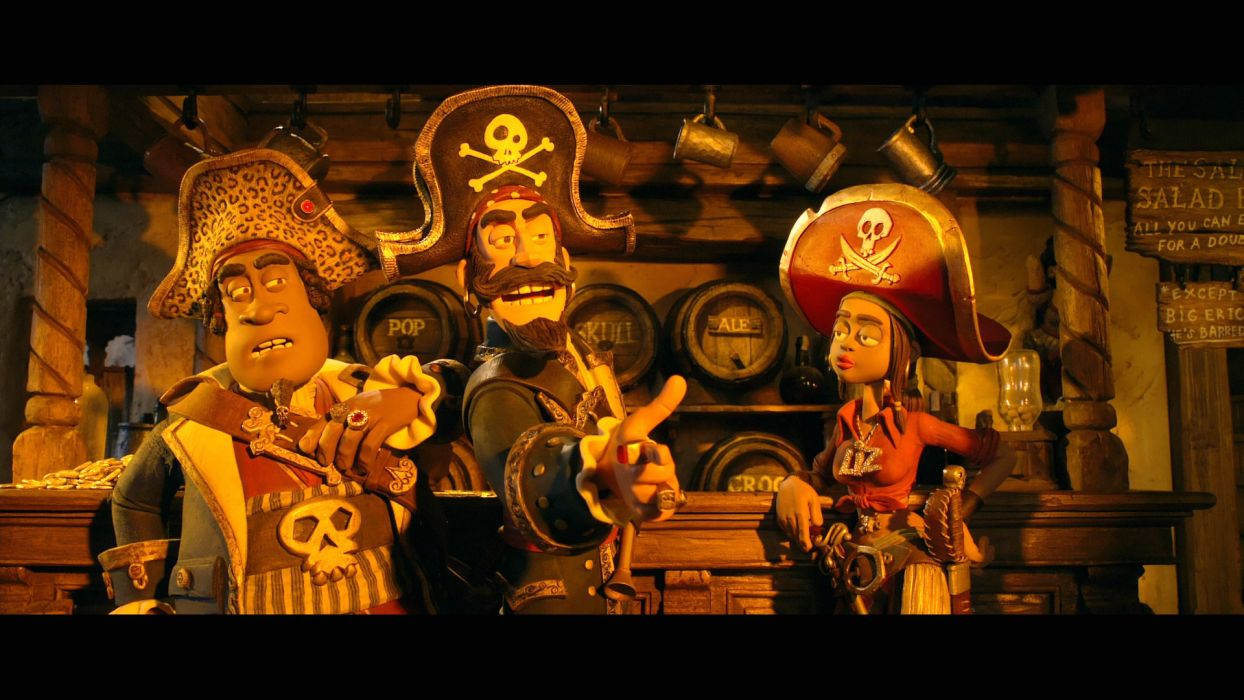 The Pirates! Band of Misfits animation adventure comedy cartoon pirate (8) wallpaper