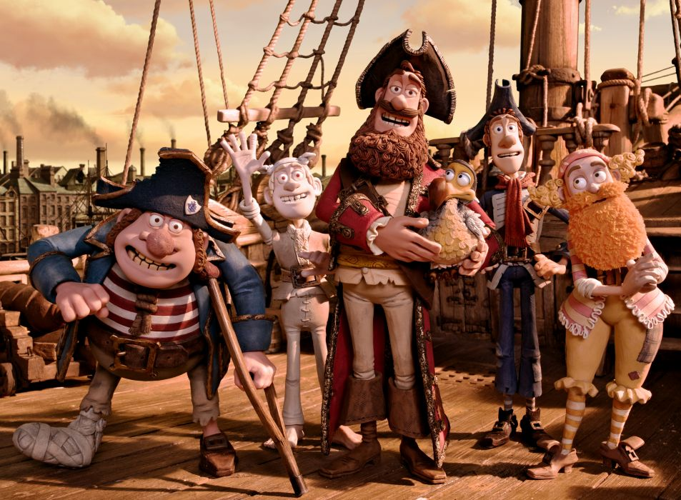 The Pirates! Band of Misfits animation adventure comedy cartoon pirate (10) wallpaper