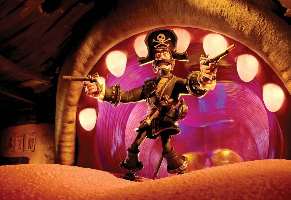 The Pirates! Band of Misfits animation adventure comedy cartoon pirate (12) wallpaper