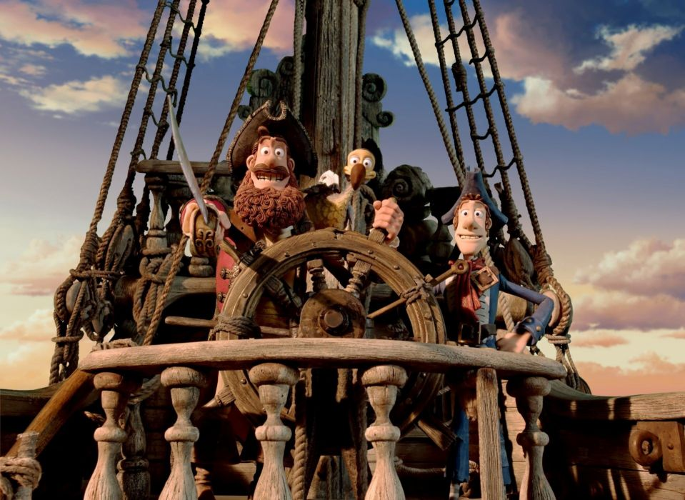 The Pirates! Band of Misfits animation adventure comedy cartoon pirate (16) wallpaper