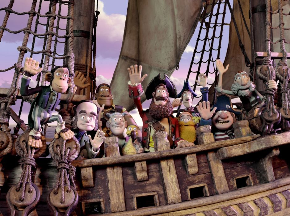 The Pirates! Band of Misfits animation adventure comedy cartoon pirate (19) wallpaper