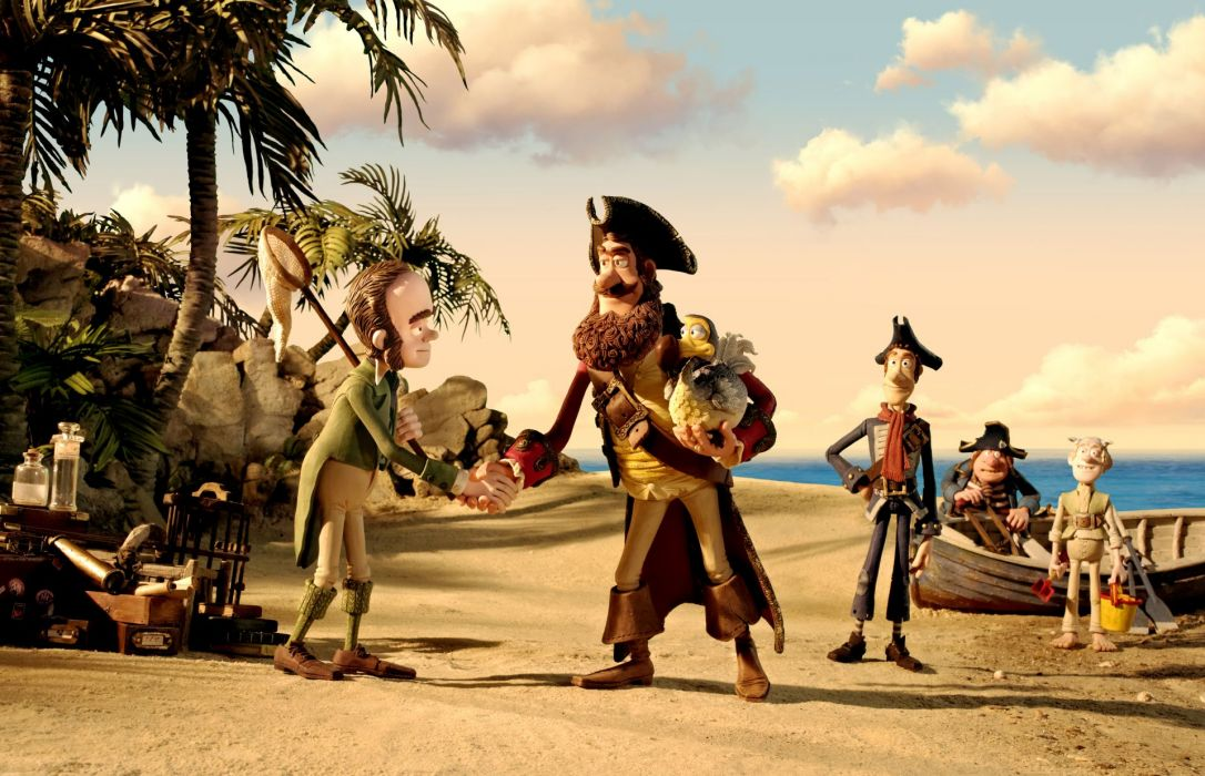 The Pirates! Band of Misfits animation adventure comedy cartoon pirate (21) wallpaper